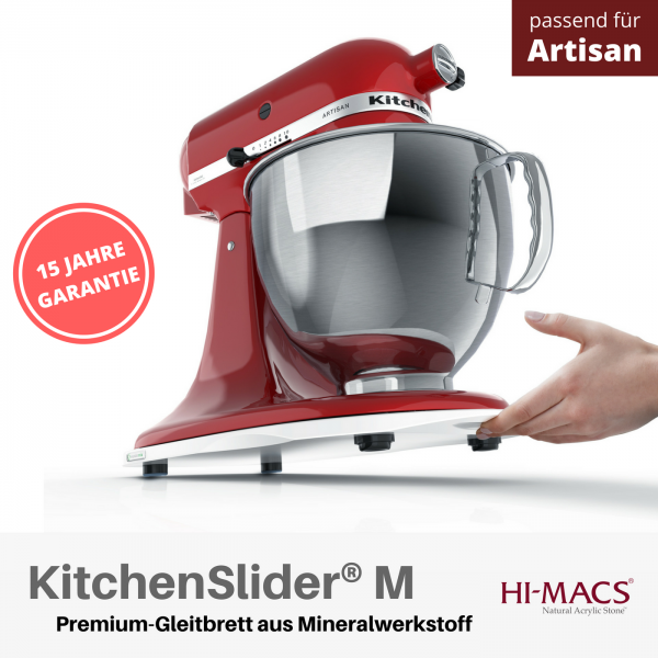 KitchenSlider® M | Alpine White | Gleitbrett für KitchenAid